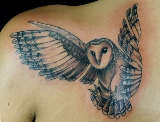 Original Flying Owl Tattoo Photo