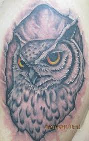 Original Grey Owl Tattoo
