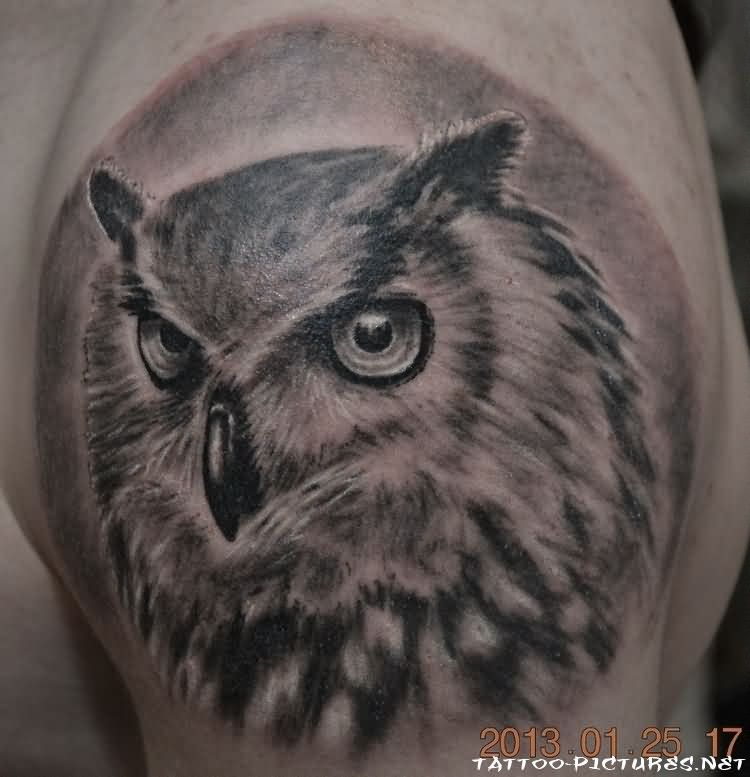 Original Owl Tattoo On Shoulder