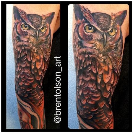 Original Owl Tattoo On Sleeve