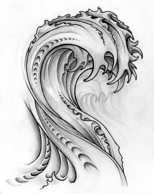 Original Wave Tattoo Design