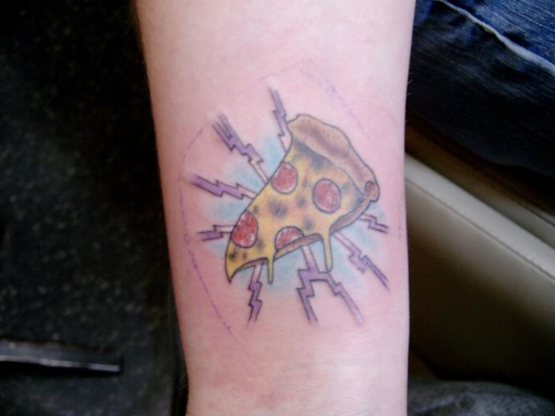 Outstanding Pizza Slice Tatto