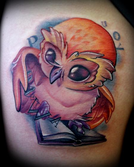 Owl And Book Tattoos