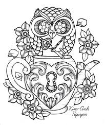 Owl And Flowers Tattoo Designs