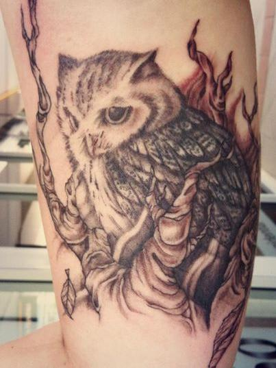Owl And Tree Tattoos