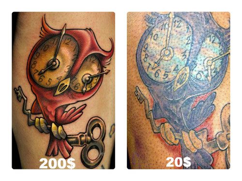 Owl Clock Tattoos