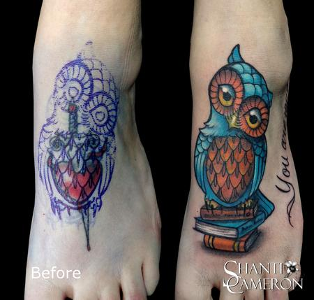 Owl Cover Up Tattoos