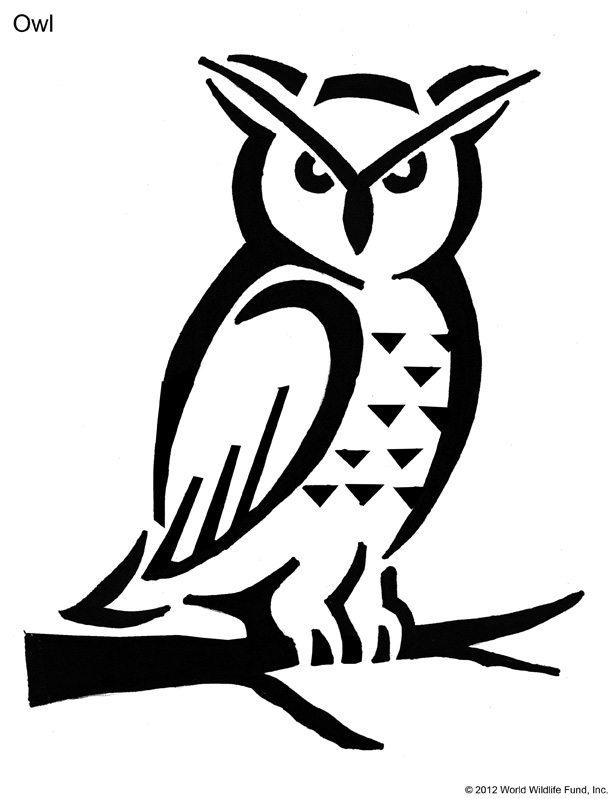 Owl Pumpkin Tattoo Stencil