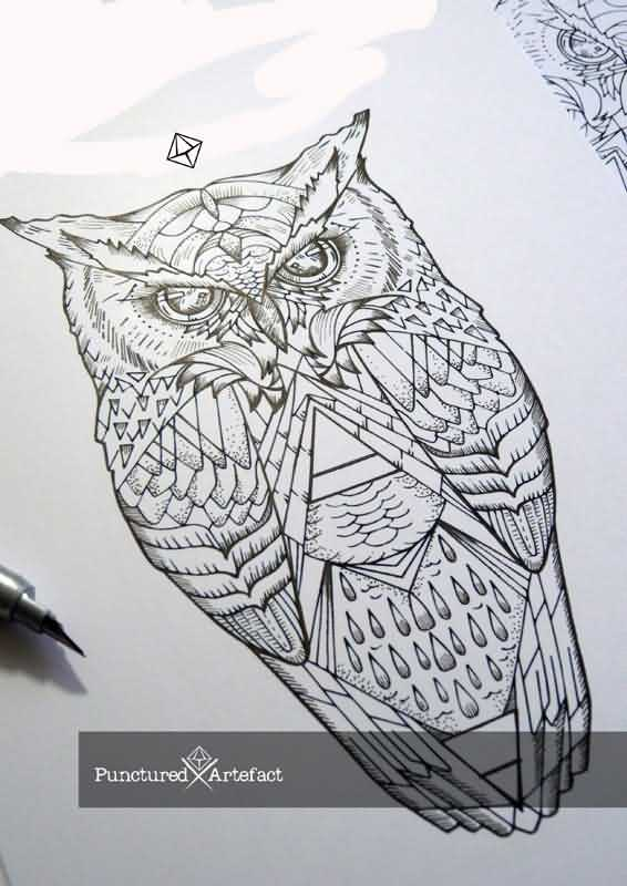 Owl Tattoo By Punctured