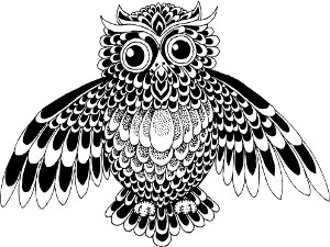 Owl Tattoo Model