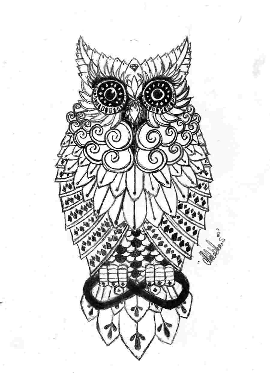 Owl Tattoo Sample