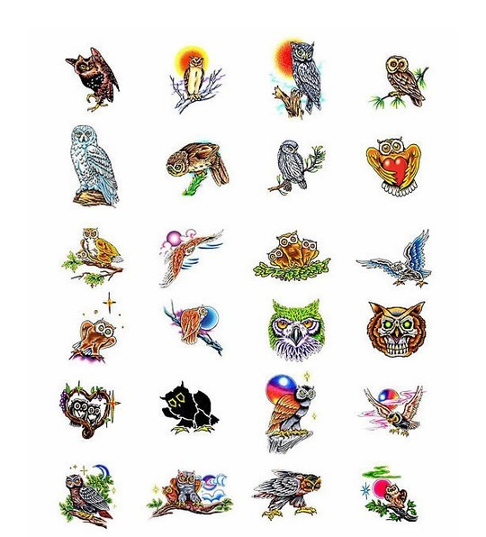 Owl Tattoos Collection
