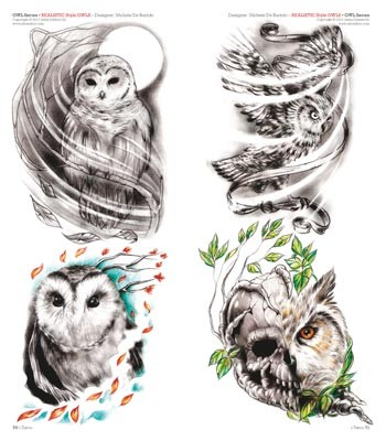 Owl Tattoos Pack