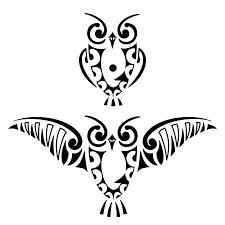 Owl Tribal Tattoo Designs