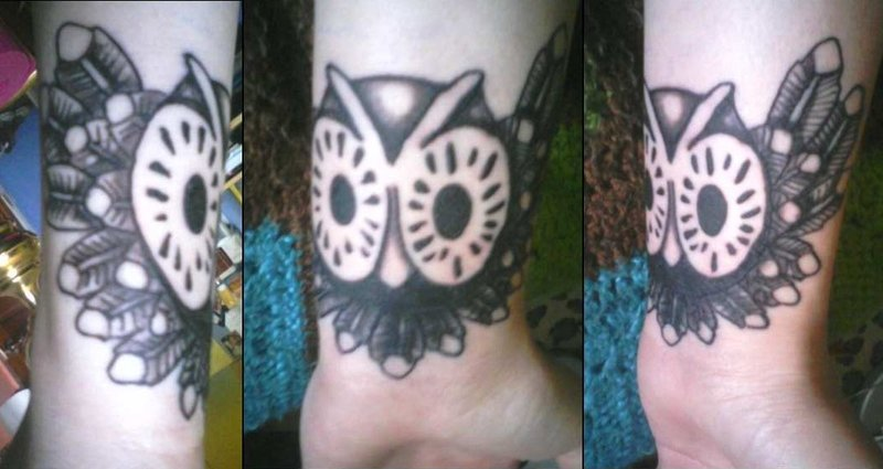 Owl Wrist Tattoos