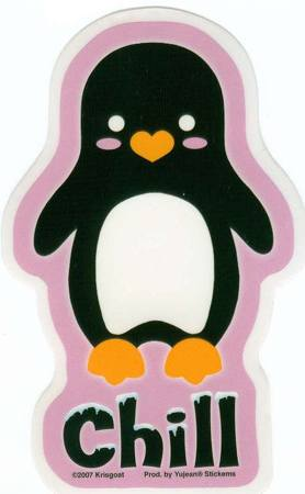 Penguin Chill Tattoo Sticker