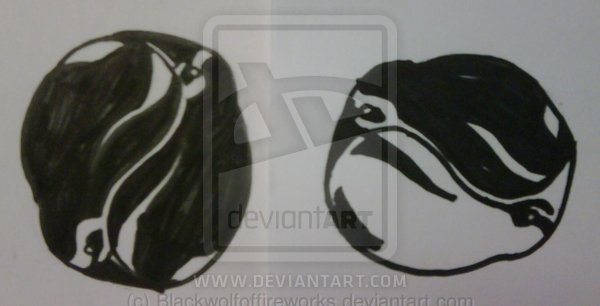 Penguin Circle Tattoo Designs