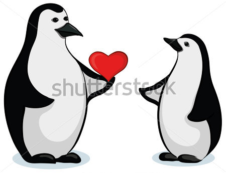 Penguin Couple Tattoo Design