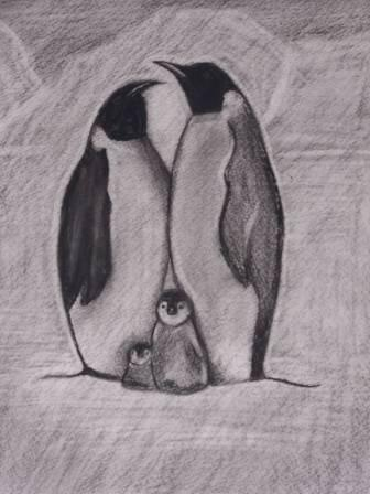 Penguin Family Tattoo Design