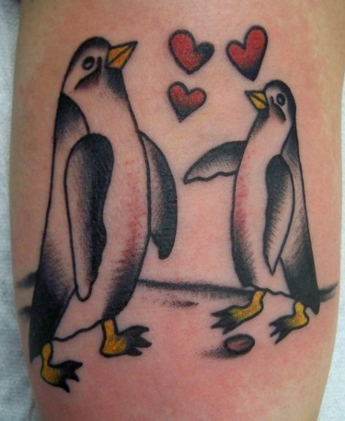 Penguin Love Tattoos
