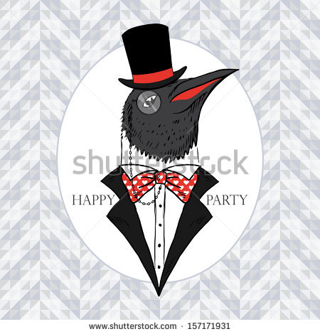 Penguin Wearing Hat And Suit Tattoo Design