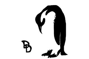 Penguin With Head Down Tattoo Design