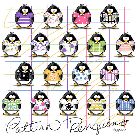 Penguins Pattern Tattoos