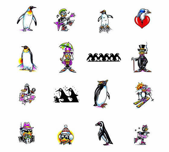 Penguins Tattoos Collection