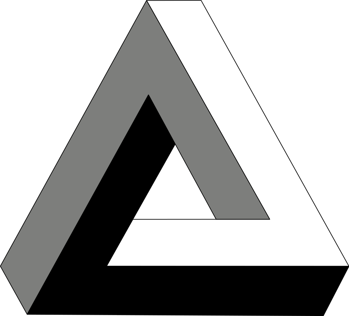Penrose Triangle Tattoo Model