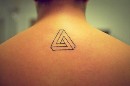 Penrose  Triangle Tattoo Style For Men
