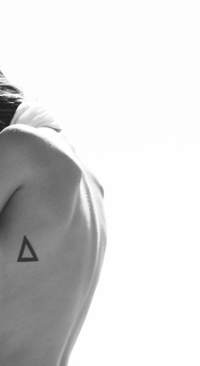 Perfect Triangle Tattoo On Side Of Rib
