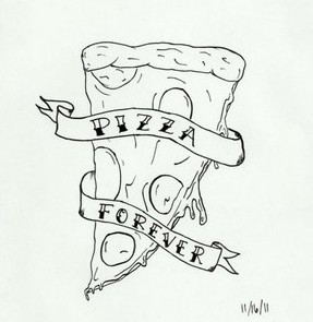 Pizza Forever Tattoo Design