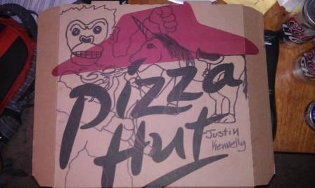 Pizza Hut Logo Tattoo Sketch