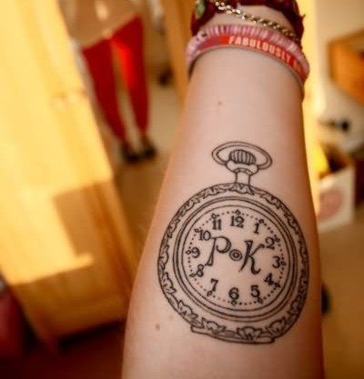 PK - Clock Tattoo