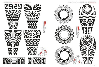 Polynesian And Mehndi Style Tattoo Designs