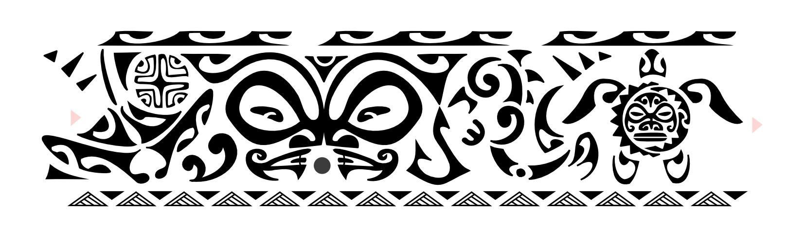 Polynesian Ankle Band Tattoo Design