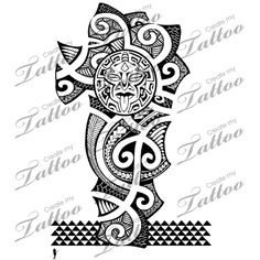 Polynesian Armband Tattoo Design