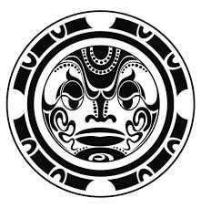 Polynesian Circle Tattoo Design