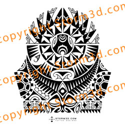 Polynesian Eye Tattoo Design