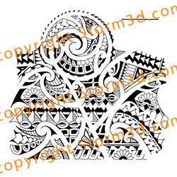 Polynesian Flowers Tattoo Design Photo