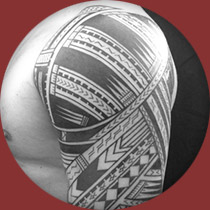 Polynesian Half Sleeve Tattoo Photo
