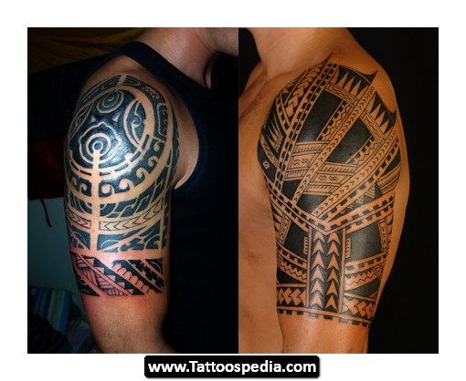 Polynesian Half Sleeve Tattoos Images
