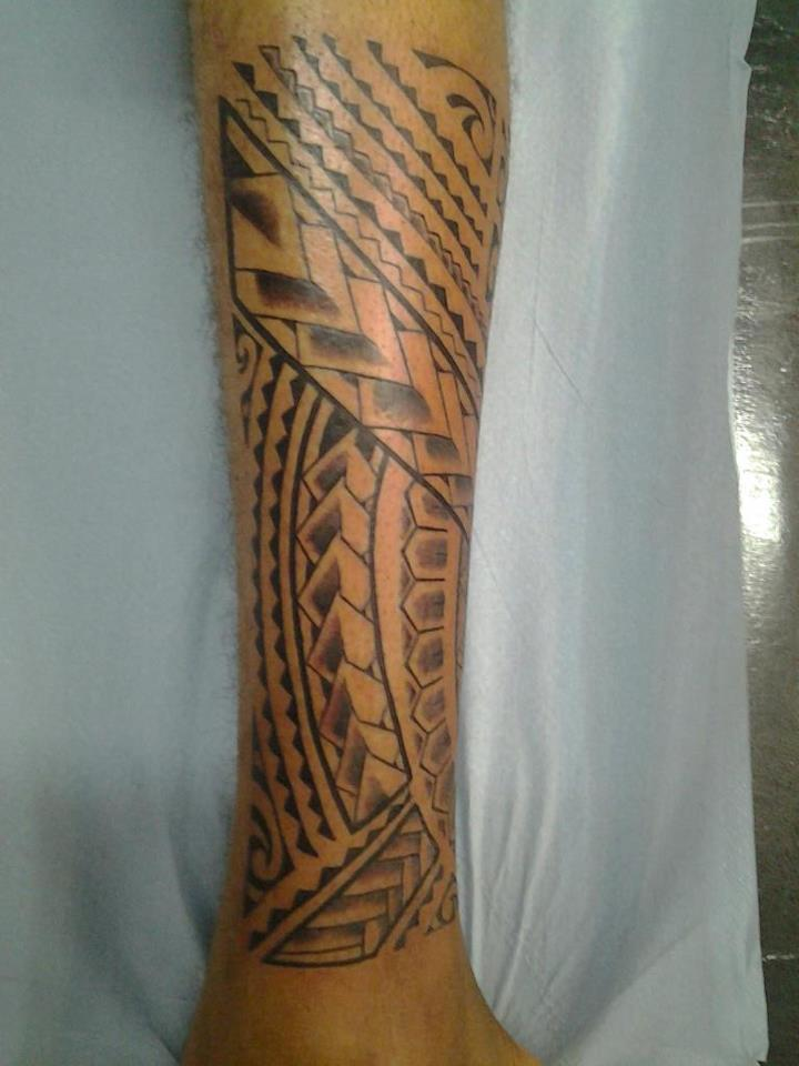 Polynesian Maori Samoan Tattoo On Arm