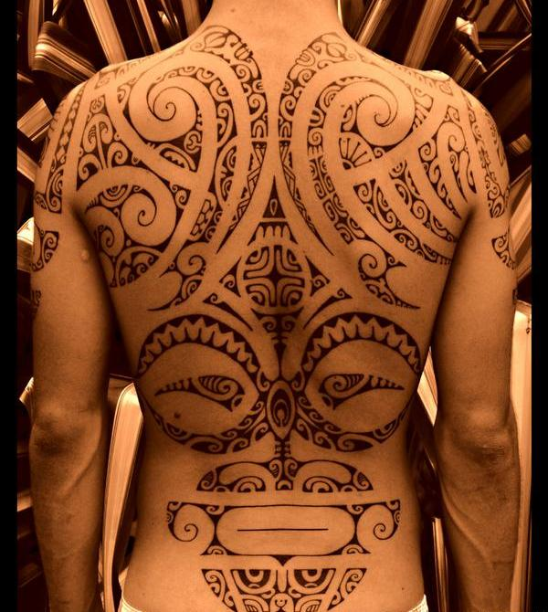 Polynesian Maori Tattoos On Full Back