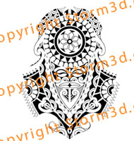 Polynesian Masks Sleeve Tattoos