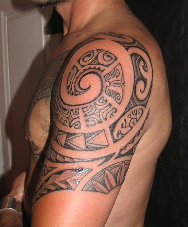 Polynesian Samoan Maori Tattoo On Upper Arm