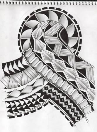 Polynesian Samoan Tattoo Design