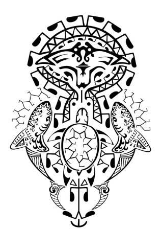 Polynesian Sea Animals Tattoo Designs