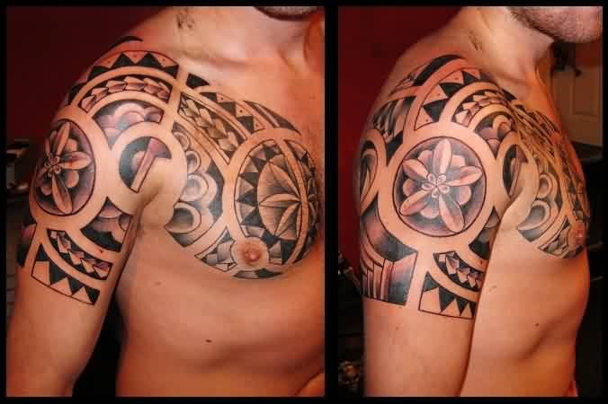 Polynesian Style Chest Tattoos