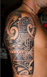Polynesian Tattoos On Right Half Sleeve
